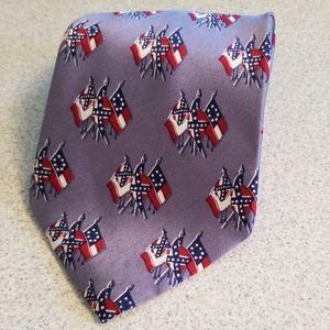 Confederate Battle Flag Tie 100% Silk